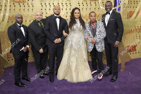 Stock Photo of Ava DuVernay with Kevin Richardson, Antron Mccray, Raymond Santana Jr., Korey Wise and Yusef Salaam