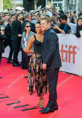 Matt Damon and his wife Luciana Barroso arrive for the screening of the movie 'Ford v Ferrari' during the 44th annual Toronto International Film Festival (TIFF) in Toronto, Canada, 09 September 2019. The festival runs 05 to 15 September.