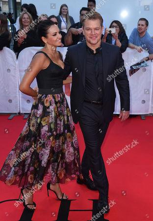 Stock Photo of Matt Damon and Luciana Damon