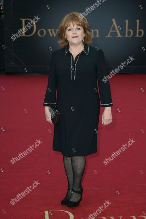 Lesley Nicol poses for photographers upon arrival at the World premiere of the film 'Downton Abbey' in central London