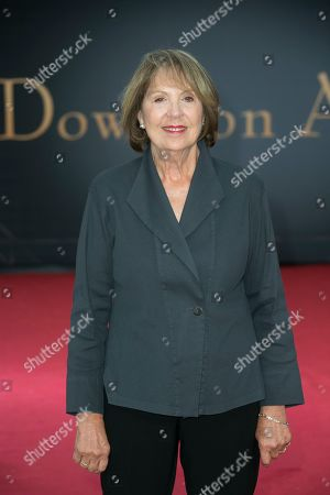 Penelope Wilton poses for photographers upon arrival at the World premiere of the film 'Downton Abbey' in central London