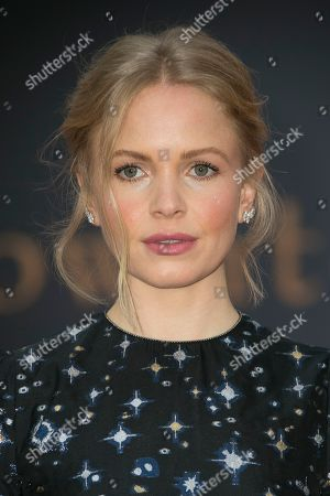 Stock Picture of Kate Phillips poses for photographers upon arrival at the World premiere of the film 'Downton Abbey' in central London