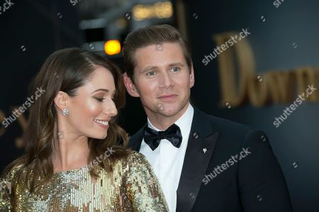 Allen Leech, Jessica Blair Herman. Allen Leech and Jessica Blair Herman pose for photographers upon arrival at the World premiere of the film 'Downton Abbey' in central London