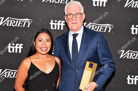 Yalitza Aparicio and David Linde