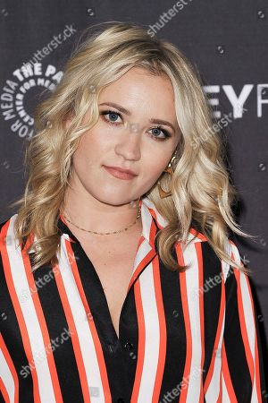 """Emily Osment attends Fox's """"Almost Family"""" screening and panel at the 2019 PaleyFest Fall TV Previews at The Paley Center for Media, in Beverly Hills, Calif"""