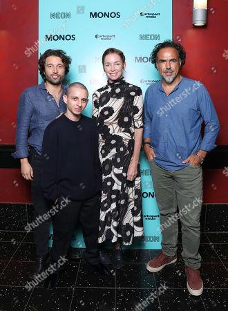 Alejandro Landes, Moises Arias, Julianne Nicholson and Alejandro Gonzalez Inarritu