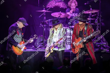 Stock Picture of Cheap Trick - Rick Nielsen, Robin Zander, Daxx Nielsen, Tom Petersson