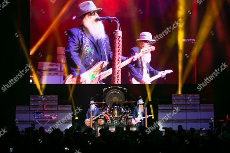 Editorial picture of ZZ Top in concert at Michigan Lottery Amphitheatre, Sterling Heights, USA - 08 Sep 2019