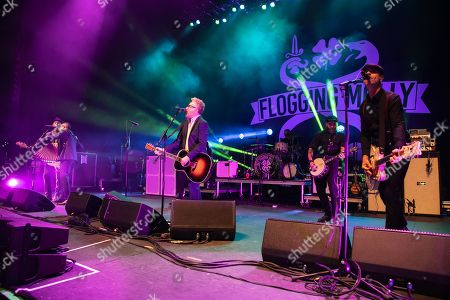 Stock Image of Flogging Molly - Nathen Maxwell, Matt Hensley, Dave King, Mike Alonso, Spencer Swain, Dennis Casey
