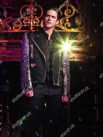 Stock Image of Aaron Tveit on the catwalk
