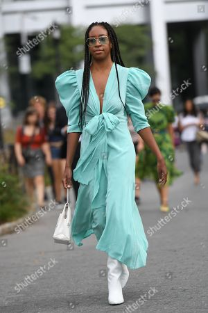 Editorial picture of Street Style, Spring Summer 2020, New York Fashion Week, USA - 09 Sep 2019