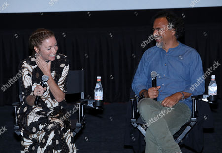 Julianne Nicholson and Alejandro Gonzalez Inarritu