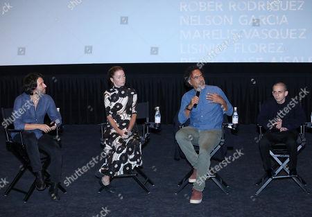 Stock Picture of Alejandro Landes, Julianne Nicholson, Alejandro Gonzalez Inarritu and Moises Arias