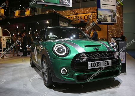 The 10 millionth Mini Cooper S is on display at the International Motor Show IAA in Frankfurt Main, Germany, 10 September 2019. The 2019 International Motor Show Germany IAA 2019, which this year promotes itself under the motto 'Driving tomorrow', takes place in Frankfurt am Main from 12 to 22 September 2019. The IAA 2019 will also feature numerous world premieres, and has a special focus on electric mobility and digitization.