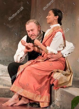 Stock Photo of Elliot Cowan as Tom, Anjana Vasan as Niru