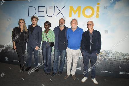 Stock Photo of Ana Girardot, Francois Civil, Eye Haidara, Cedric Klapisch, Francois Berleand and Bruno Levy
