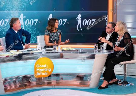 Piers Morgan, Susanna Reid, Paul Ross and Valerie Leon