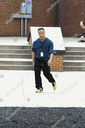 Phillip Lim on the catwalk