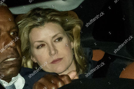 Stock Picture of Former defence secretary Penny Mordaunt leaves Parliament after a late sitting in which the government lost a vote to trigger a snap election. Parliament will be now be prorogued, suspended until October 14.