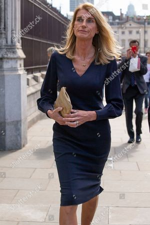 Wife of the Speaker of the House of Commons Sally Bercow return to The Houses of Parliament after attending a Service of Thanksgiving for Lord Ashdown at Westminster Abbey.
