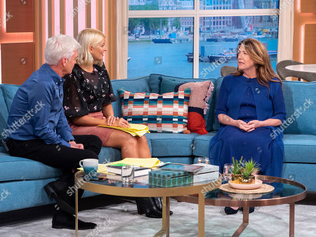 Phillip Schofield and Holly Willoughby with Ann Dowd