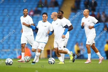 Samir Nasri of Manchester City Legends warms up