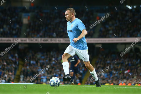 Craig Bellamy of Manchester City Legends