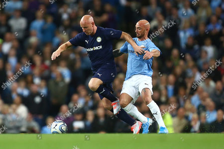 Stock Photo of Nicky Butt of Premier League All-Stars and Stephen Ireland of Manchester City Legends