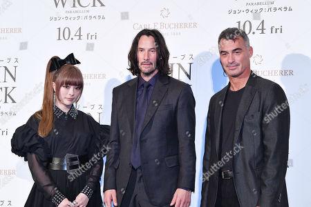Stock Photo of Kyary Pamyu Pamyu, Keanu Reeves and Chad Stahelski