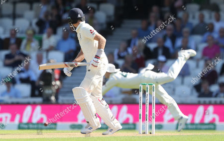 England's Joe Root (Captain)  is dropped for a third time by Steve Smith of Australia