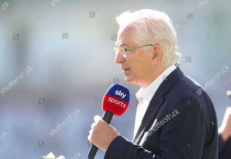 David Gower in his final Ashes Test Match as a Sky TV Presenter