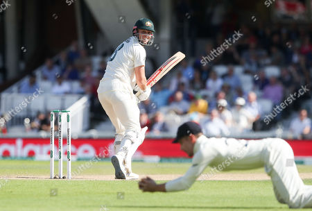 Stock Photo of Mitchell Marsh of Australia is reprieved after this dismissal bowled England's Chris Woakes caught England's Rory Burns is overturned for a no ball