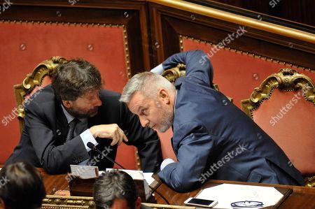 Dario Franceschini, Cultural Heritage Minister and Lorenzo Guerini, Defense Minister