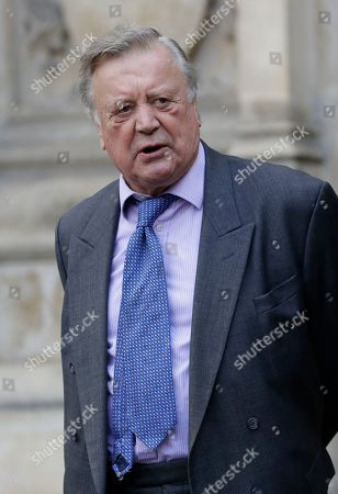 British politician Ken Clarke leaves after attending a memorial service for former Leader of the Liberal Democrats Lord Paddy Ashdown at Westminster Abbey in London