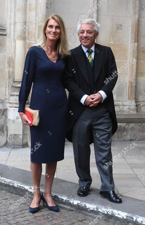 The Speaker of the Houses of Commons, John Bercow (R) and his wife Sally (L) arrive to a Service of Thanksgiving for the life and work of Lord Ashdown in Westminster Abbey London, Britain, 10 September 2019. Paddy Ashdown was a former leader of the Liberal Democrats.