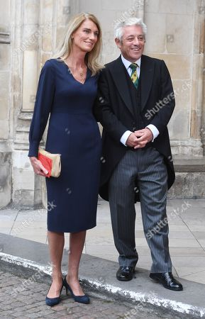 The Speaker of the Houses of Commons, John Bercow (R) and his wife Sally (L) arrive to attend a Service of Thanksgiving for the life and work of Lord Ashdown in Westminster Abbey London, Britain, 10 September 2019. Paddy Ashdown was a former leader of the Liberal Democrats.
