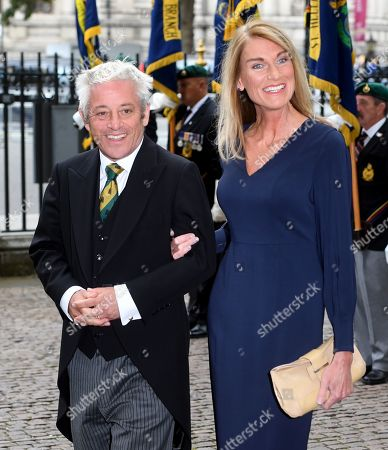 The Speaker of the Houses of Commons, John Bercow (L) and his wife Sally (R) arrive to attend a Service of Thanksgiving for the life and work of Lord Ashdown in Westminster Abbey London, Britain, 10 September 2019. Paddy Ashdown was a former leader of the Liberal Democrats.