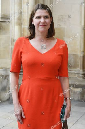 Leader of the Liberal Democrats, Jo Swinson attends a Service of Thanksgiving for the life and work of Lord Ashdown in Westminster Abbey London, Britain, 10 September 2019. Paddy Ashdown was a former leader of the Liberal Democrats.