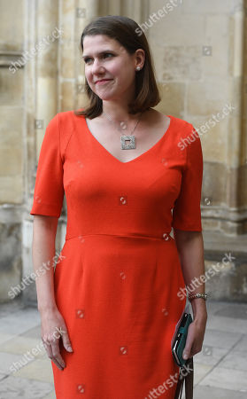 Leader of the British Liberal Democrats, Jo Swinson attends a Service of Thanksgiving for the life and work of Lord Ashdown in Westminster Abbey London, Britain, 10 September 2019. Paddy Ashdown was a former leader of the Liberal Democrats.