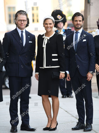 Prince Daniel, Crown Princess Victoria and Prince Carl Philip
