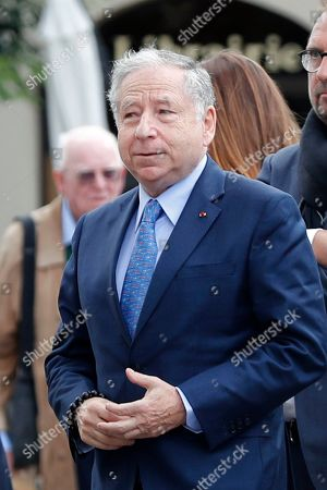 Former F1 team manager Jean Todt arrives for the funeral ceremony of late French driver Anthoine Hubert, at the Chartres cathedral, in Chartres, south of Paris, . The French driver died at the Spa-Francorchamps track following a 160 mph (257 kph) crash in the F2 Belgian Grand Prix
