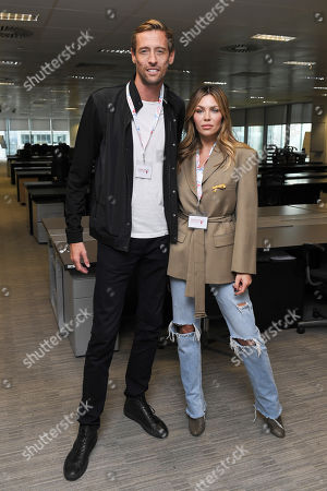 Peter Crouch and Abigail Clancy