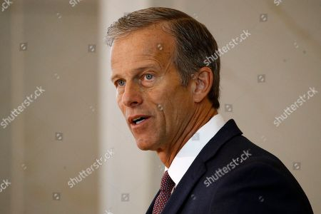 Sen. John Thune, R-S.D., speaks at a ceremony to commemorate the 400th anniversary of the first recorded arrival of enslaved African people in America, on Capitol Hill in Washington
