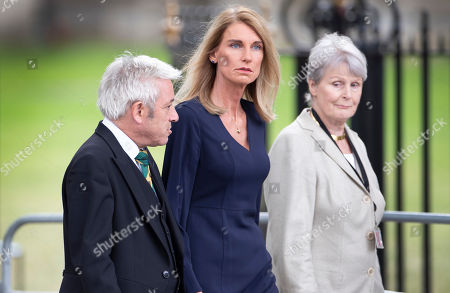 Stock Image of Speaker John Bercow and his wife Sally Bercow attend a memorial service for Lord Paddy Ashdown at Westminster Abbey