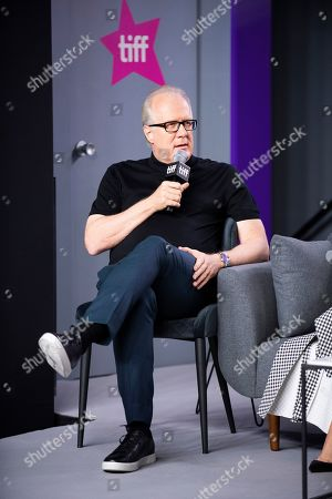 "Tracy Letts attends a press conference for ""Ford v Ferrari"" on day six of the Toronto International Film Festival at the TIFF Bell Lightbox, in Toronto"
