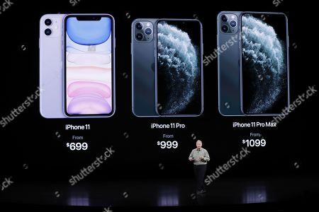 Apple Senior VP of Worldwide Marketing Phil Schiller speaks about the iPhone during the Apple Special Event in the Steve Jobs Theater at Apple Park in Cupertino, California, USA, 10 September 2019.
