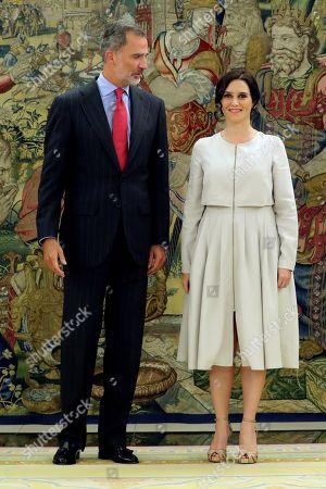 Felipe VI receives Madrid's regional president, Madrid