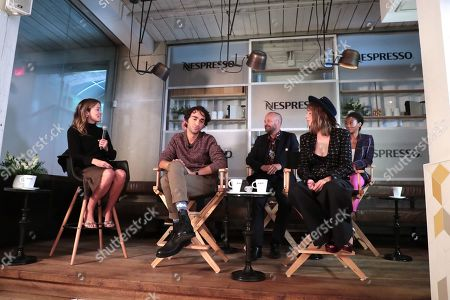 Stock Picture of Antonia Blyth, Moderator, Marc Meyers, Director, Alex Wolff, Peter Sarsgaard, Maya Thurman Hawke, Betty Gabriel
