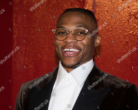 Russell Westbrook arrives to the Tom Ford show during Fashion Week on in New York