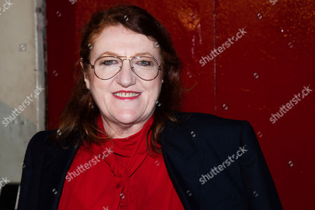 Stock Photo of Glenda Bailey arrives to the Tom Ford show during Fashion Week on in New York